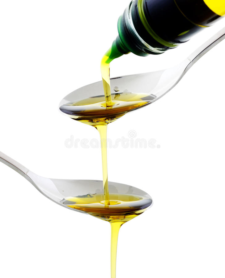 был ложкой масла политой оливкой стоковые изображения