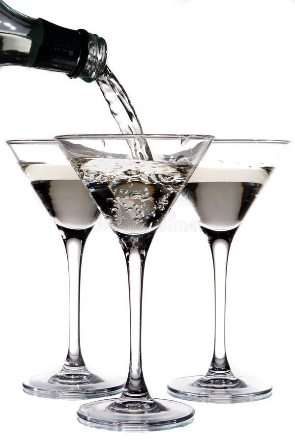 был стеклянным политым martini стоковое фото