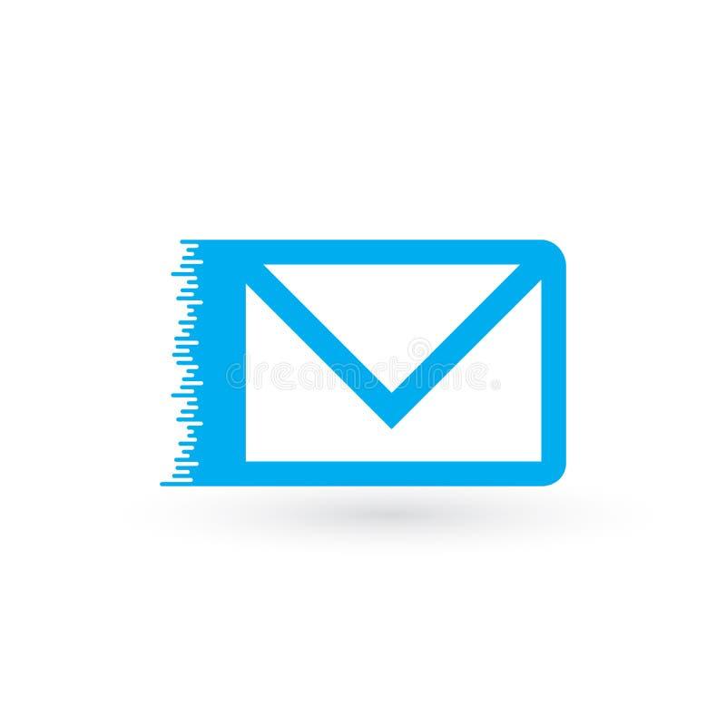 быстрая почта, электронная почта, значок вектора sms, значок электронной почты Конверт Fyling поставка голодает Иллюстрация векто бесплатная иллюстрация
