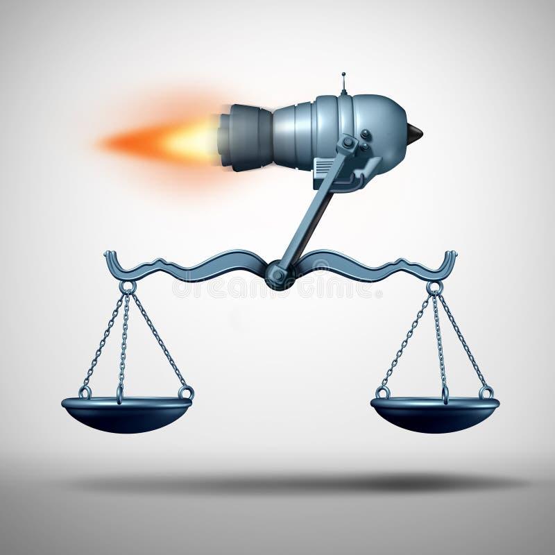 Быстрое обслуживание закона бесплатная иллюстрация