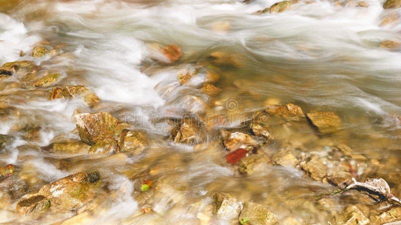 Быстрое пропуская река, конец вверх стоковое фото