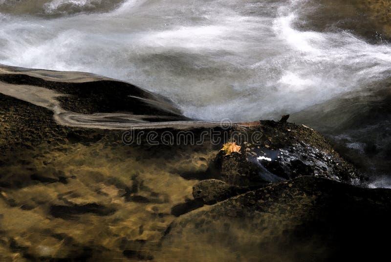 Быстрое пропуская река с белой водой стоковая фотография