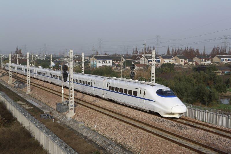 Быстроходный поезд Китая стоковая фотография rf