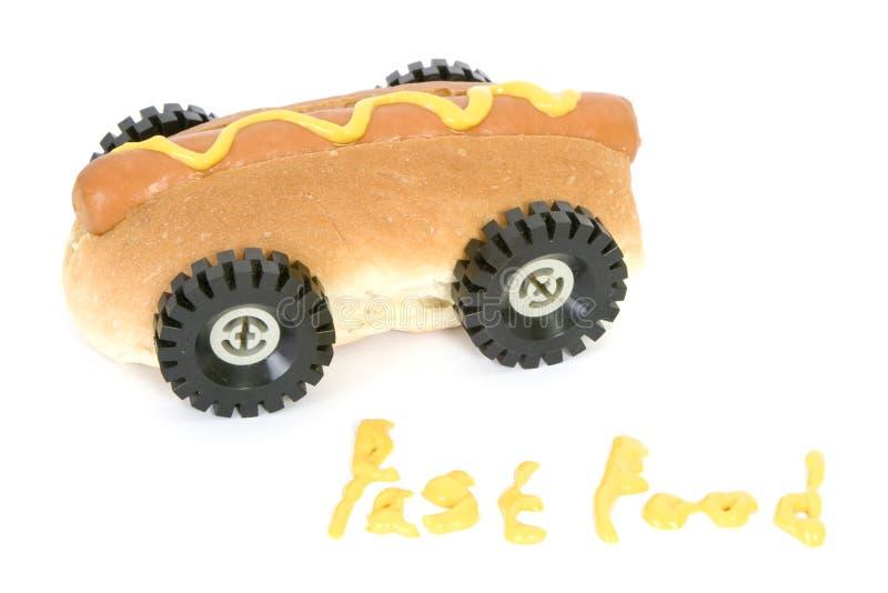 быстро-приготовленное питание собаки горячее стоковая фотография