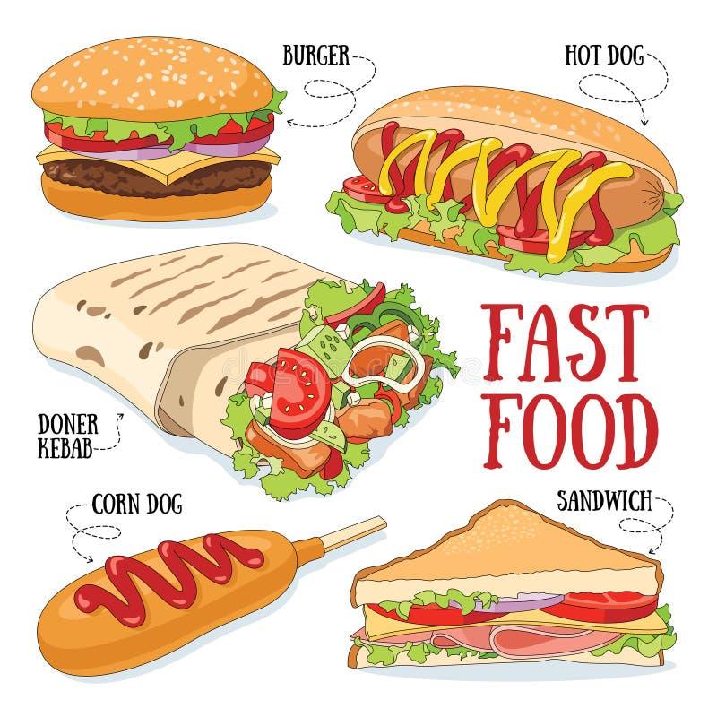 Быстро-приготовленное питание иллюстрация штока