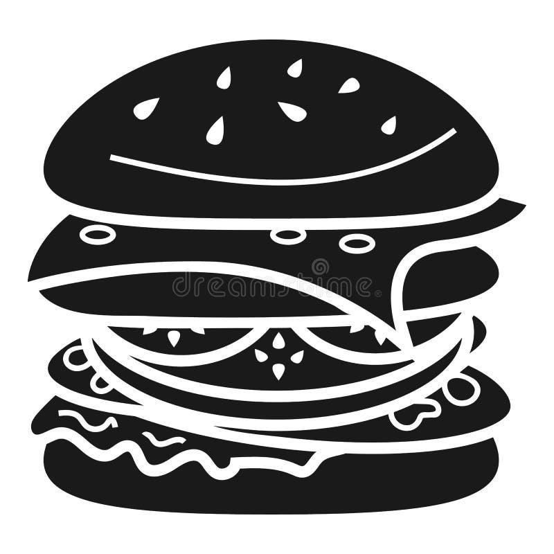 Быстрый значок бургера, простой стиль иллюстрация штока