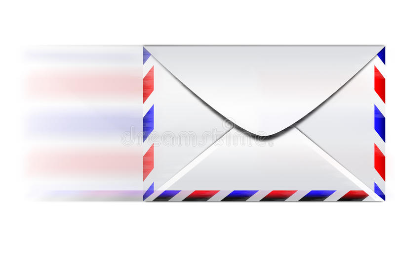 Быстрый конверт электронной почты иллюстрация вектора