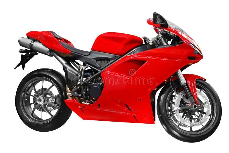 быстрый красный цвет мотовелосипеда стоковые фото