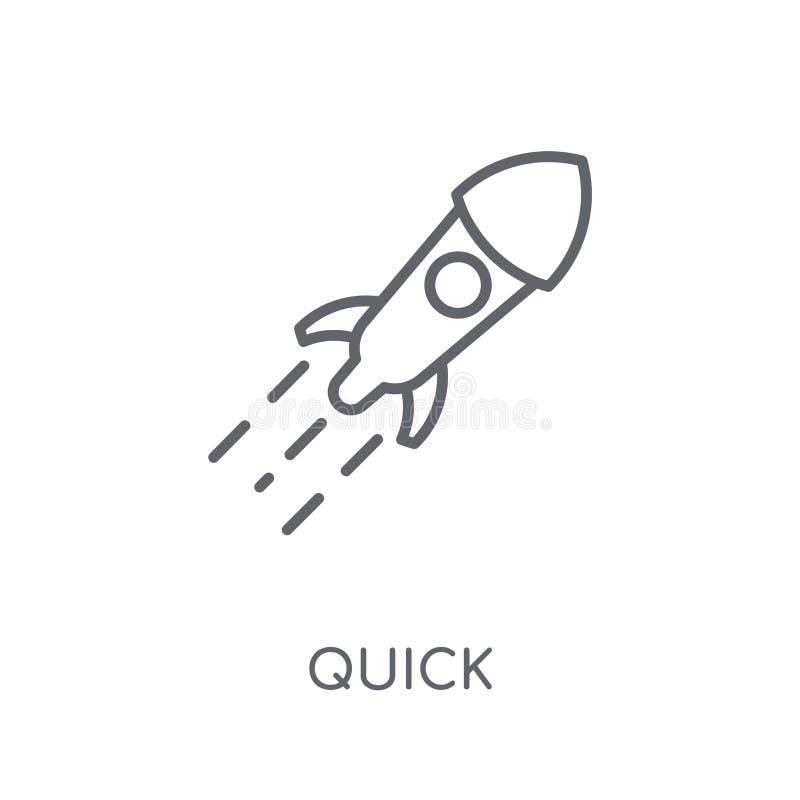 Быстрый линейный значок Концепция логотипа современного плана быстрая на белом ба иллюстрация вектора