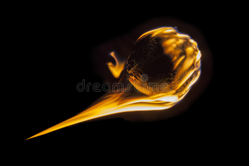 Быстрый мяч файрбола стоковое фото