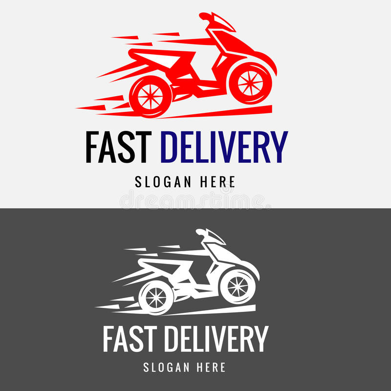 Быстрый шаблон логотипа велосипеда поставки иллюстрация вектора