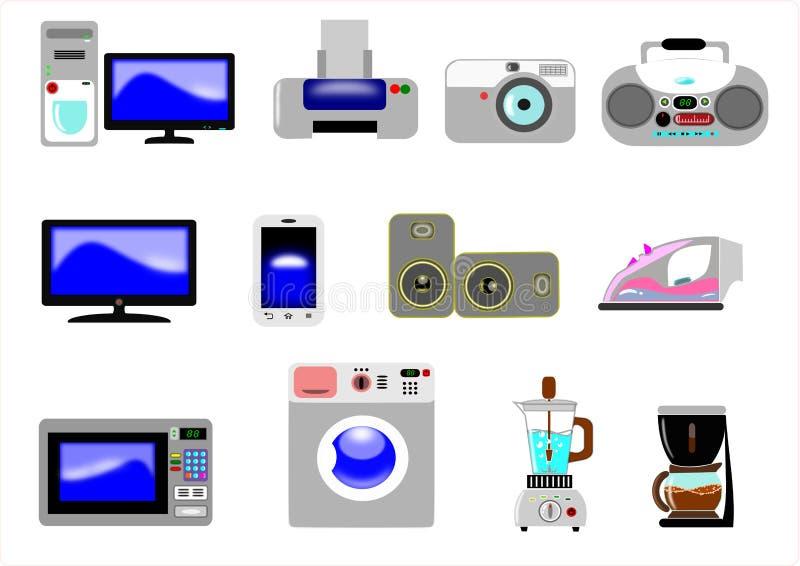 Бытовые устройства иллюстрация вектора