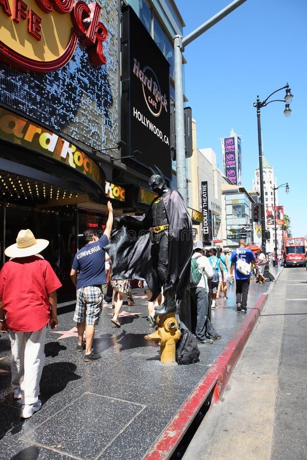 Бэтмэн в прогулке hollywood стоковая фотография rf