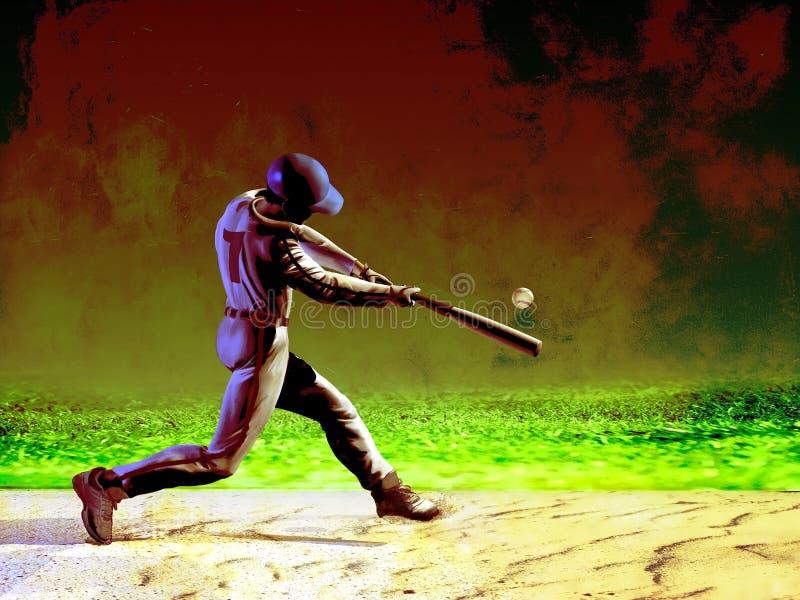 Бэттер бейсбола иллюстрация штока