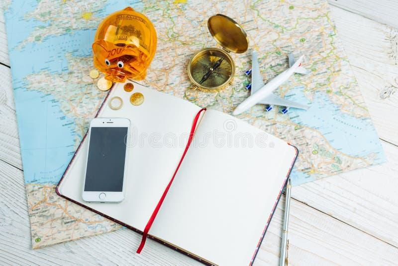 Бюро путешествий места работы стоковое изображение rf