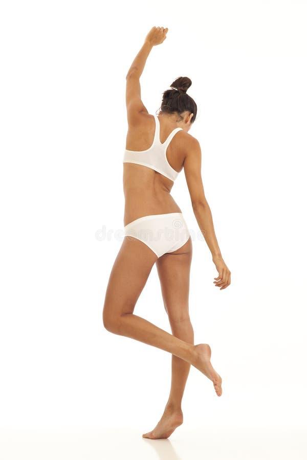 бюстгальтер резвится детеныши женщины нижнего белья стоковая фотография rf