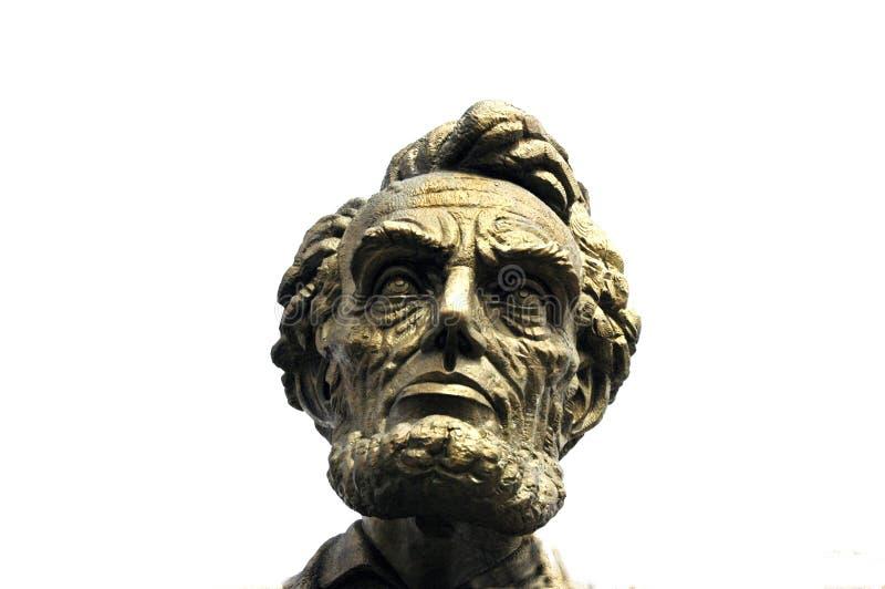 Бюст Авраама Линкольна стоковые изображения rf