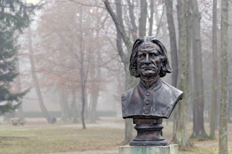 Бюст композитора Франц Лист стоковое фото