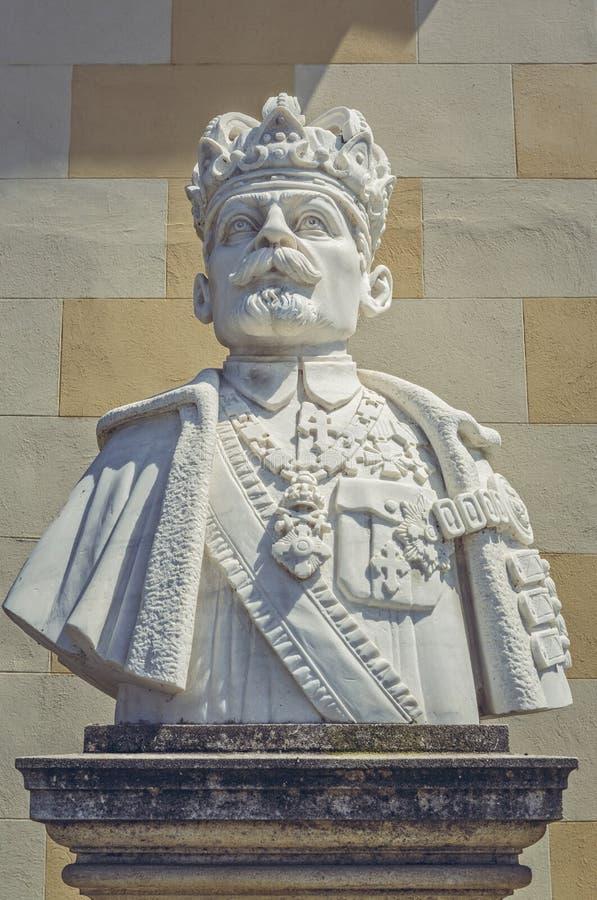Бюст короля Ferdinand Я Румынии стоковые изображения rf