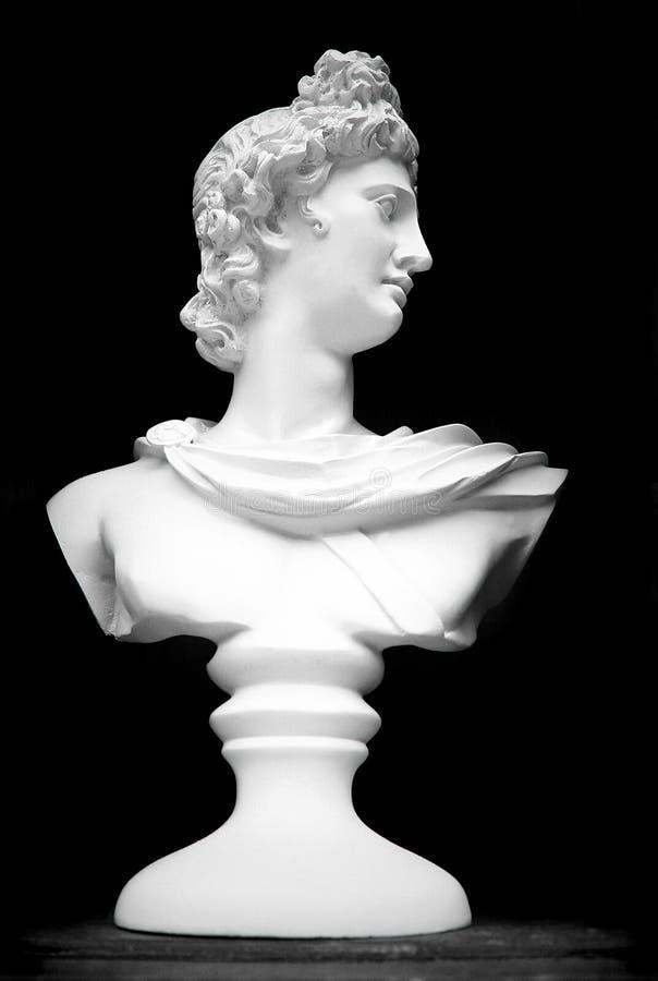 Бюст портрета римской диаграммы стоковое фото rf