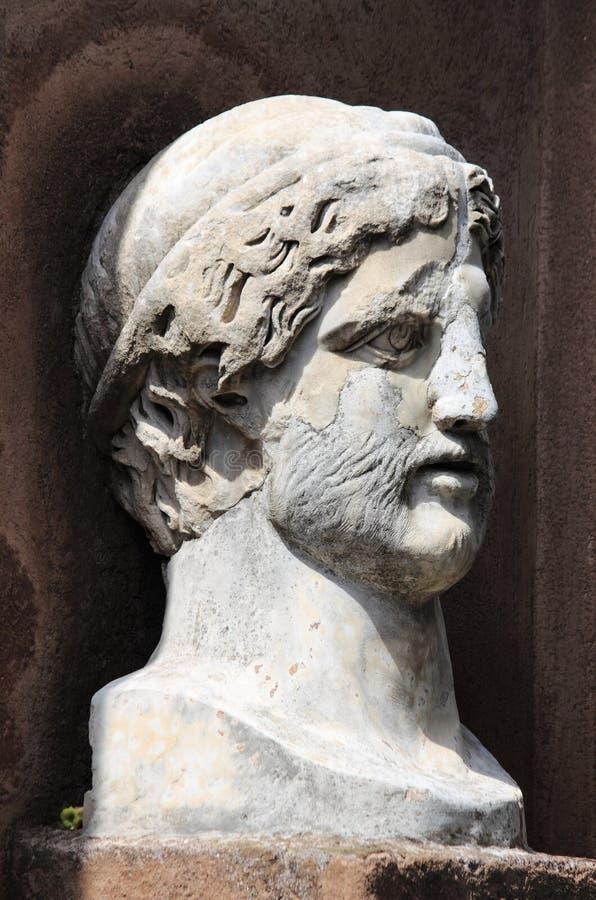 бюст римский стоковое изображение rf