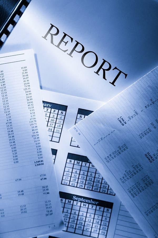 Бюджет, календарь и отчет стоковое фото rf