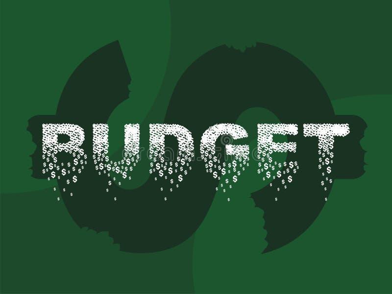 Бюджет иллюстрация штока