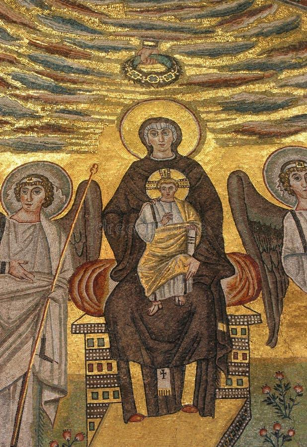 Благословленная дева мария с младенцем Иисусом стоковая фотография rf