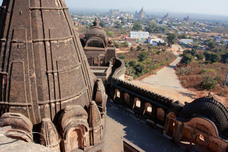 Благоустраивайте взгляд индийской долины от индусского виска стоковые изображения rf