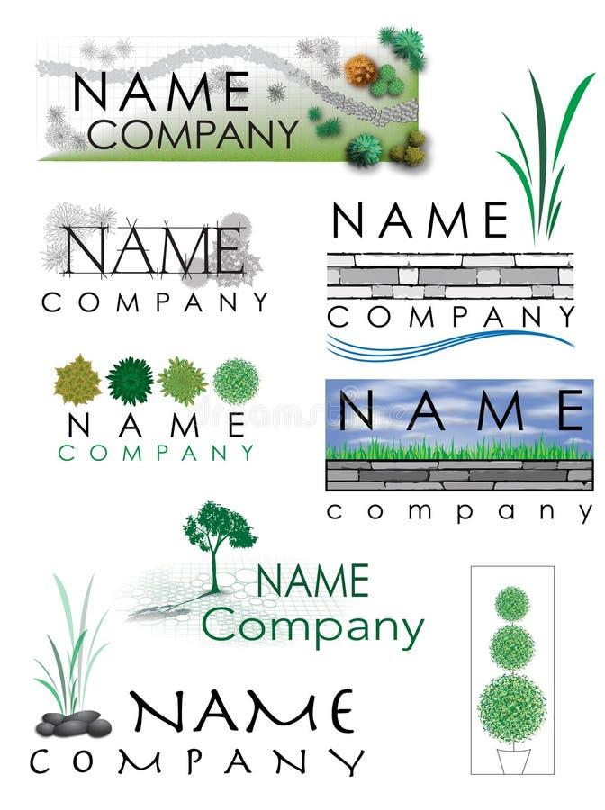 Благоустраивать логотип стоковое изображение