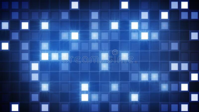 Блестящая синь придает квадратную форму абстрактной предпосылке иллюстрация вектора