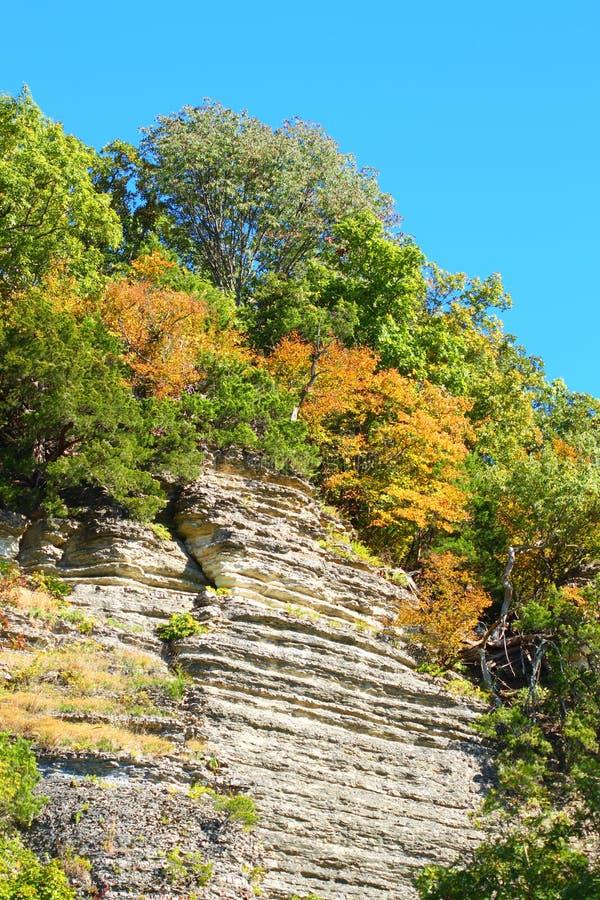 Блефы национального леса Shawnee стоковое фото
