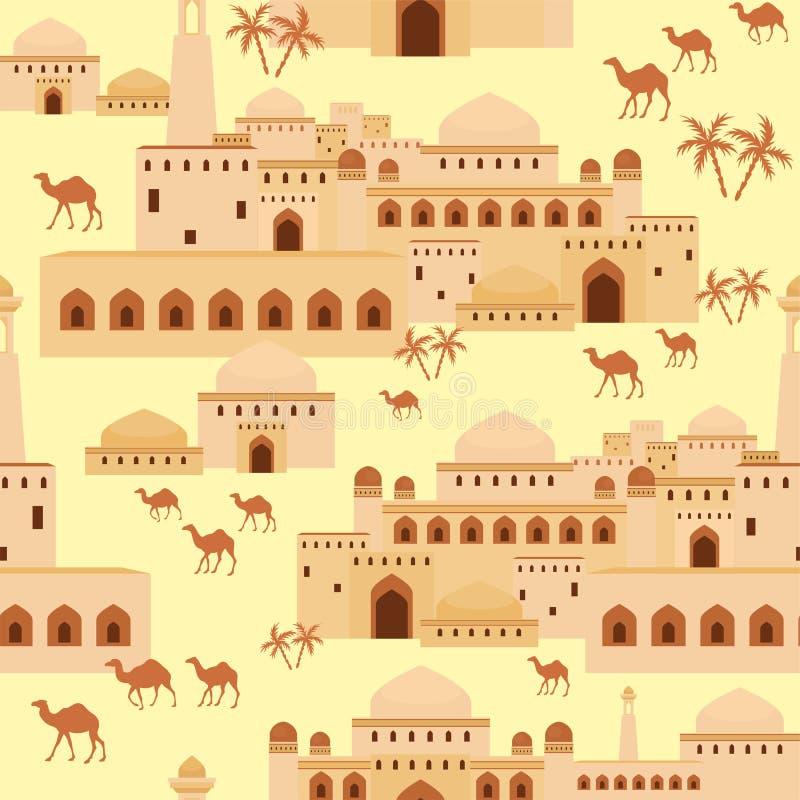 Ближневосточный город бесплатная иллюстрация