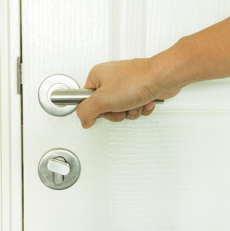 Близкая ручка двери стоковое изображение