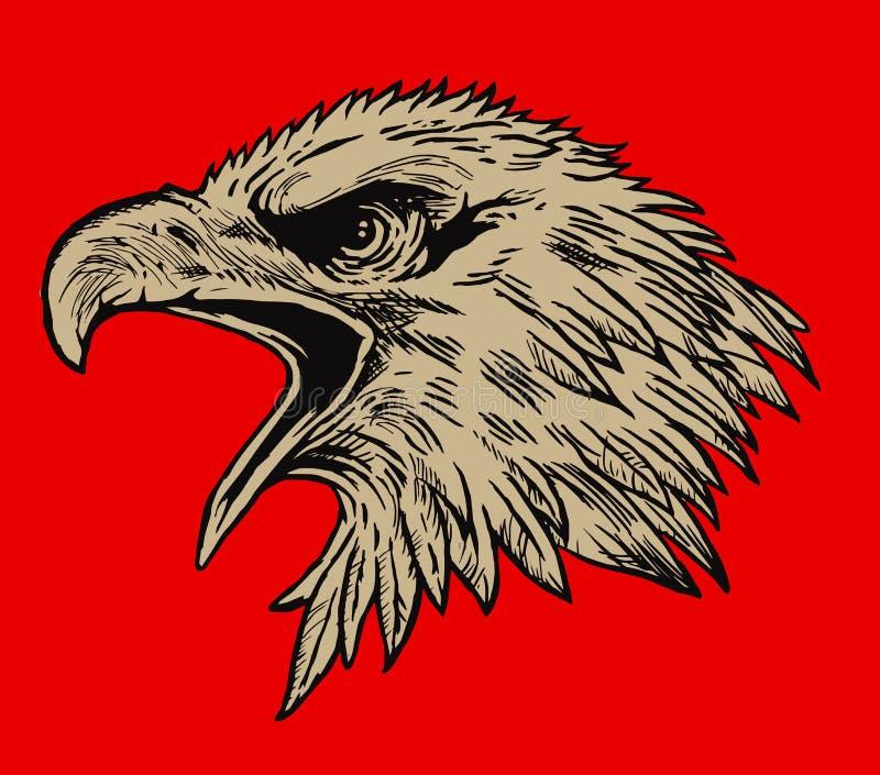 близкая стойка головки орла стоя вверх иллюстрация штока