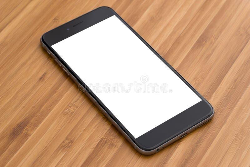 близкая таблица smartphone вверх стоковые изображения rf