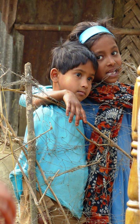 Близкие други в южном Бангладеше стоковая фотография