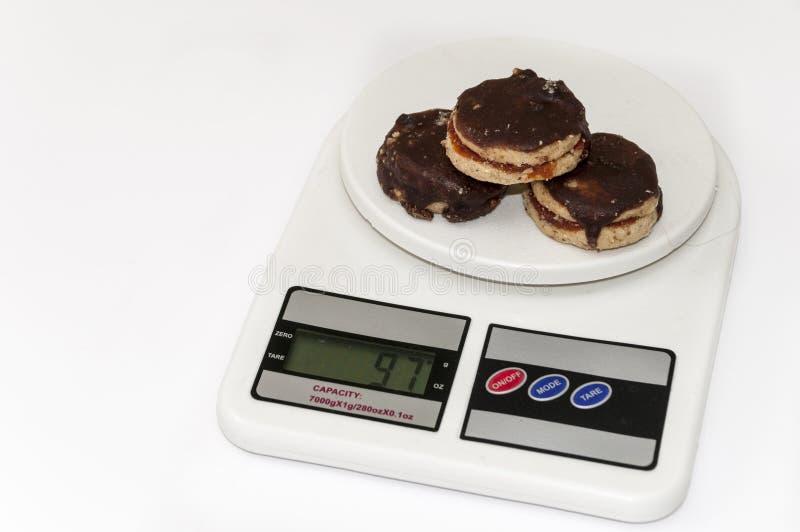 Близкий взгляд печений шоколада круглых стоковое фото rf