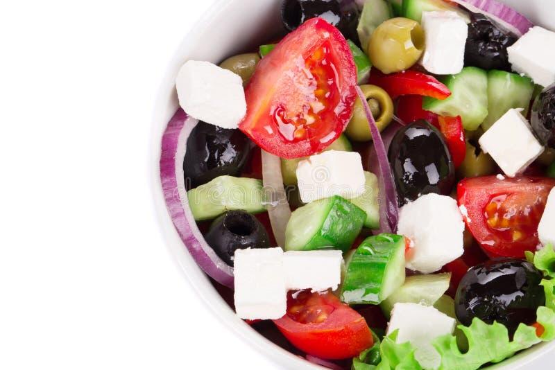 близкий греческий салат вверх стоковая фотография