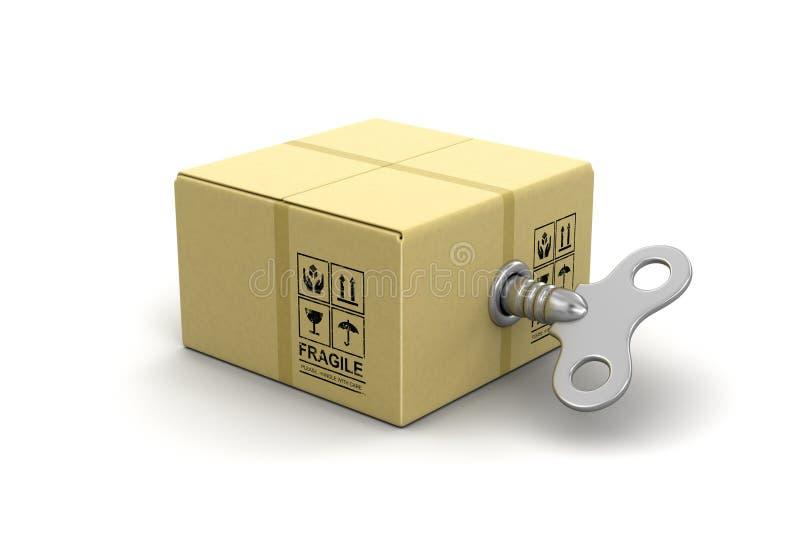 Близкий пакет с ключом замотки бесплатная иллюстрация