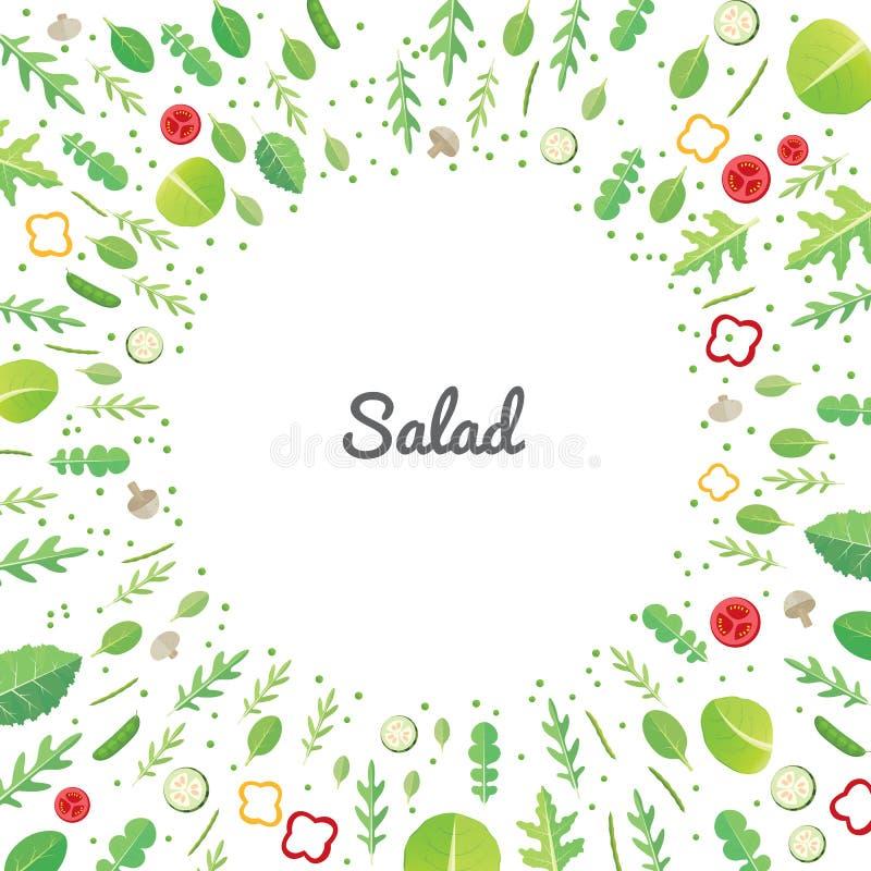 близкий салат снятый вверх по овощу бесплатная иллюстрация