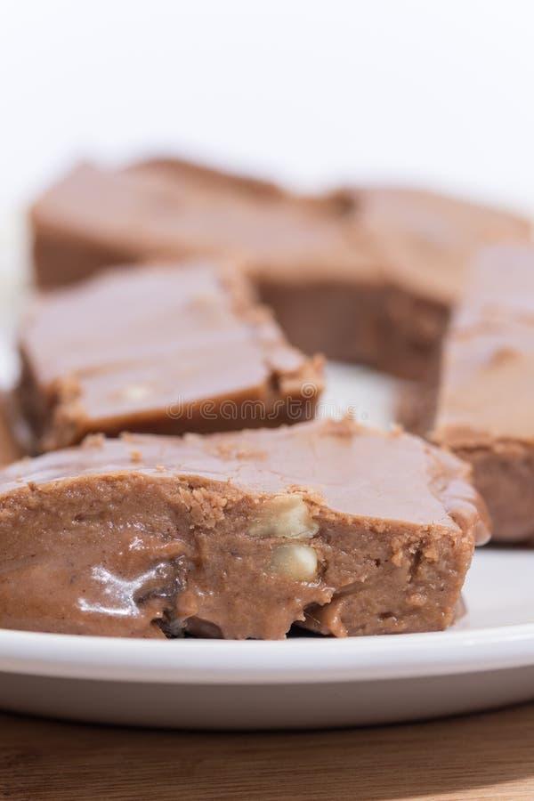 Близкое изображение макроса домодельного отечественного шоколада стоковые фотографии rf