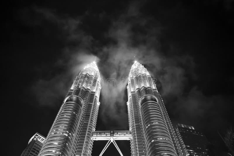 близнецы башен Куала Лумпур Малайзии petronas стоковое изображение