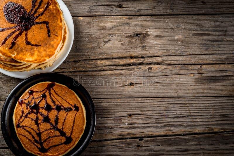 Блинчики хеллоуина для детей стоковое фото