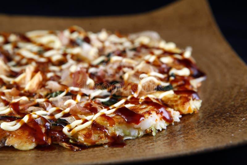 Блинчики Okonomiyaki стоковое изображение