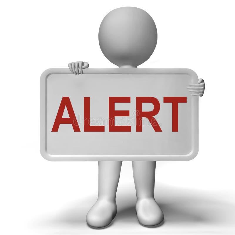 Бдительные предосторежение или Advisory извещении о смысла знака иллюстрация вектора