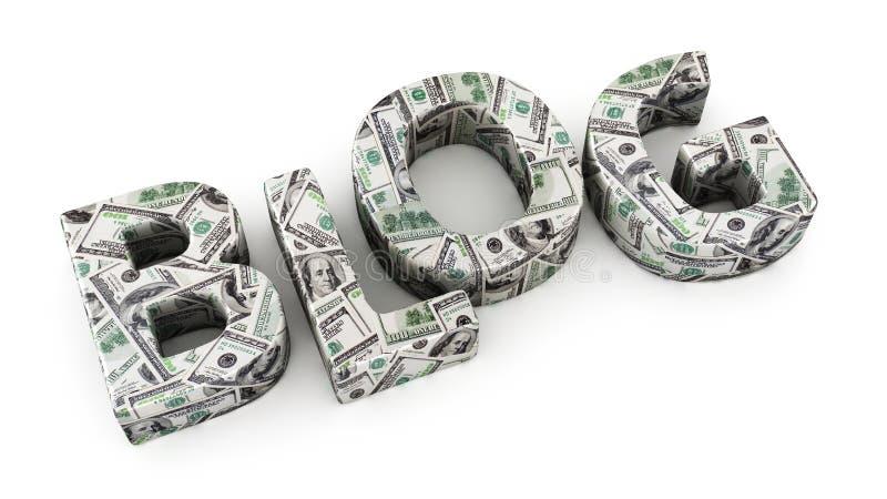 Блог доллара иллюстрация вектора
