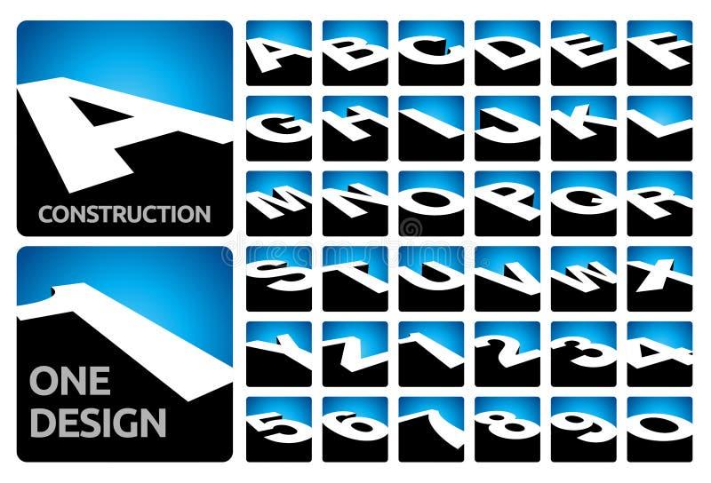 блоки алфавита 3D иллюстрация вектора