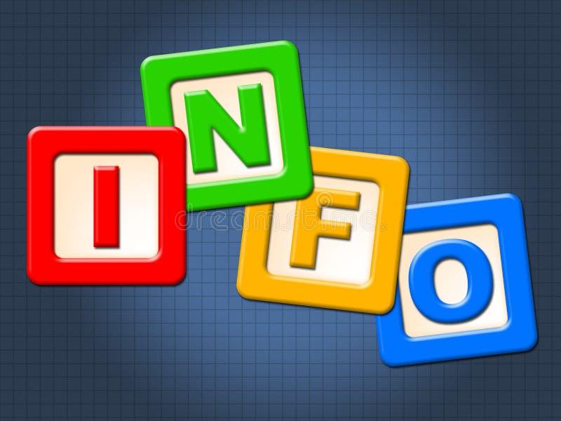 Блоки детей информации представляют молодости малолетку и детей бесплатная иллюстрация