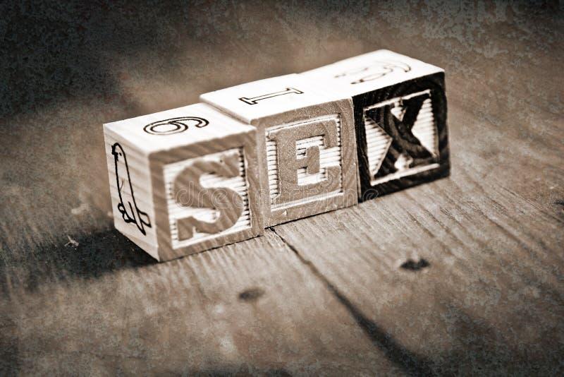 Блоки секса деревянные стоковая фотография rf